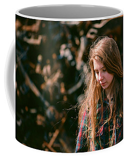 Coffee Mug featuring the photograph Lost In The Metal by Carl Young