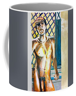 Coffee Mug featuring the painting Lost Summer Love  by Rene Capone