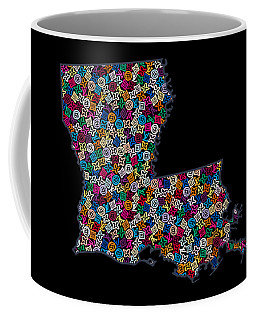 Louisiana Map - 2 Coffee Mug