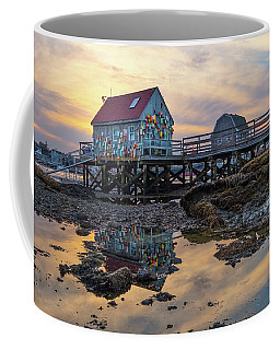 Low Tide Reflections, Badgers Island.  Coffee Mug