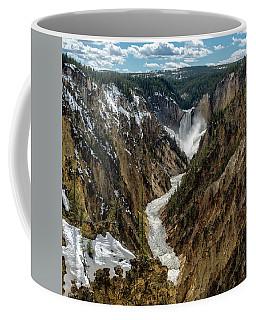 Lower Falls In Yellowstone Coffee Mug