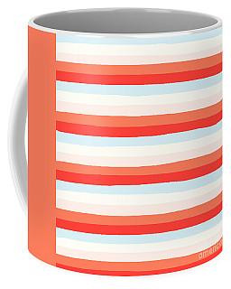lumpy or bumpy lines abstract and colorful - QAB266 Coffee Mug