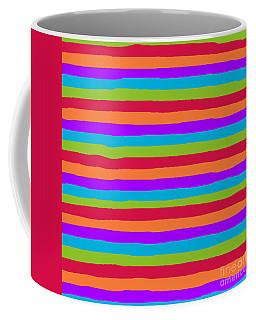 lumpy or bumpy lines abstract and summer colorful - QAB273 Coffee Mug