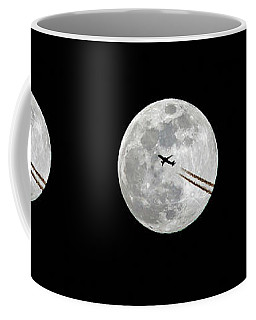 Lunar Silhouette In Sequence Coffee Mug