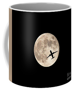 Strawberry Moon And Airliner Coffee Mug