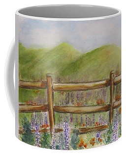 Lupines With A Side Of Poppies Coffee Mug