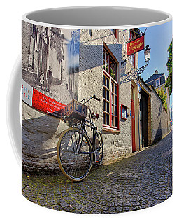 Coffee Mug featuring the photograph Lux Cobblestone Road Brugge Belgium by Nathan Bush