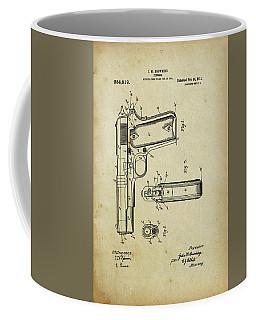 M1911 Browning Pistol Patent Coffee Mug