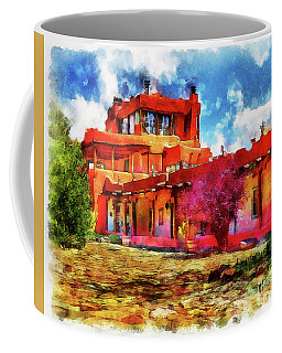 Mabel's Courtyard In Aquarelle Coffee Mug