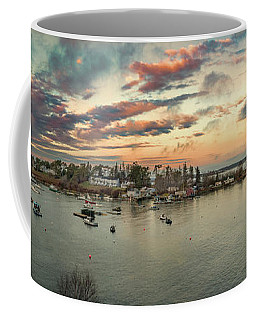 Coffee Mug featuring the photograph Mackerel Cove Sunrise by Guy Whiteley