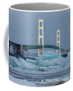 Mackinac Bridge In Ice 2161809 Coffee Mug