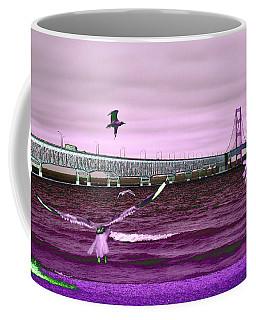 Mackinac Bridge Seagulls Coffee Mug