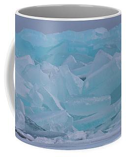 Coffee Mug featuring the photograph Mackinaw City Ice Formations 21618010 by Rick Veldman