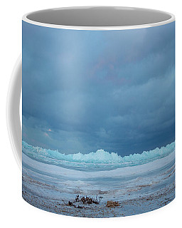Coffee Mug featuring the photograph Mackinaw City Ice Formations 21618011 by Rick Veldman
