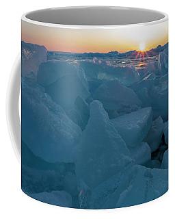 Coffee Mug featuring the photograph Mackinaw City Ice Formations 21618014 by Rick Veldman