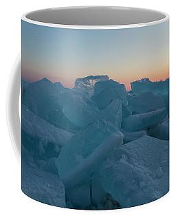 Coffee Mug featuring the photograph Mackinaw City Ice Formations 2161808 by Rick Veldman