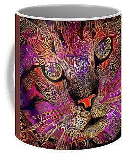 Maggie May The Magenta Tabby Cat Coffee Mug
