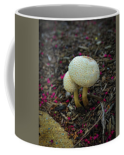 Coffee Mug featuring the photograph Magical Mushrooms by Lora J Wilson