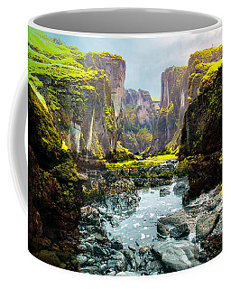 Magnificent Rural Canyons Montage Coffee Mug