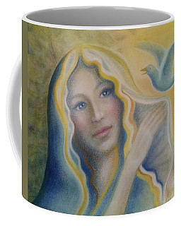 Maiden And Bluebird Coffee Mug