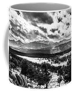 Coffee Mug featuring the photograph Majestic Clouds Bw by James L Bartlett