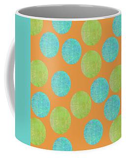 Malaysian Batik Polka Dot Print Coffee Mug