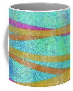 Malaysian Tropical Batik Strip Print Coffee Mug