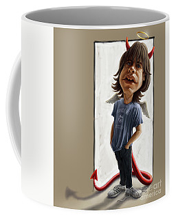 Malcolm Young Caricature Coffee Mug