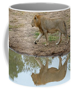 Male Lion And His Reflection Coffee Mug