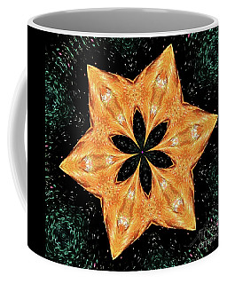 Coffee Mug featuring the photograph Mallard Head Mandala by Debbie Stahre