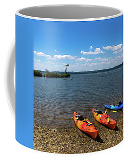 Coffee Mug featuring the photograph Mallows Bay And Kayaks by Lora J Wilson