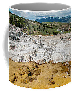 Coffee Mug featuring the photograph Mammoth Hot Springs And Hotel by Matthew Irvin