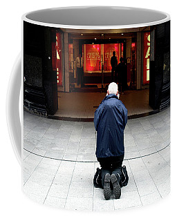 Man, Begging Coffee Mug