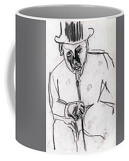Man In Top Hat And Cane Coffee Mug