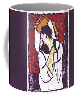 Man Sat On A Village Wall 3 Coffee Mug
