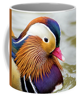 Mandarin Duck Portrait Coffee Mug