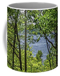 Manistee Lake Through The Trees Coffee Mug
