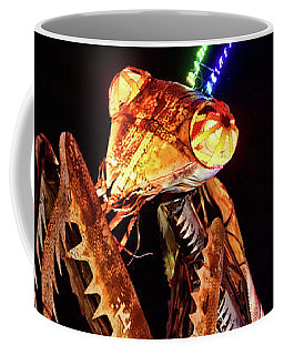 Coffee Mug featuring the photograph Mantis by Skip Hunt