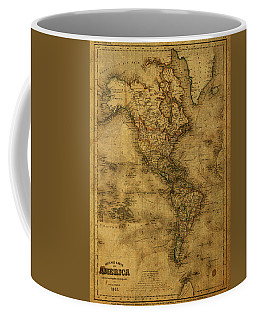 Map Of North America 1843 Coffee Mug