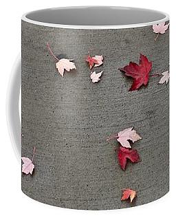 Coffee Mug featuring the photograph Maple Leaf Stroll by Ann E Robson
