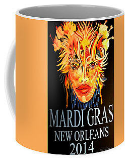 Mardi Gras Lady Coffee Mug