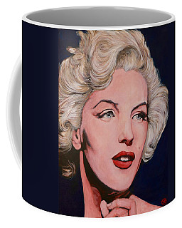 Coffee Mug featuring the painting Marilyn Monroe by Tom Roderick