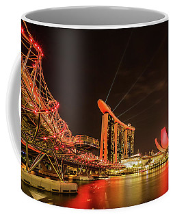 Coffee Mug featuring the photograph Marina Bay Sands by Chris Cousins