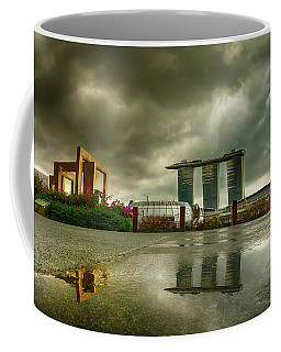 Coffee Mug featuring the photograph Marina Bay Sands Hotel by Chris Cousins
