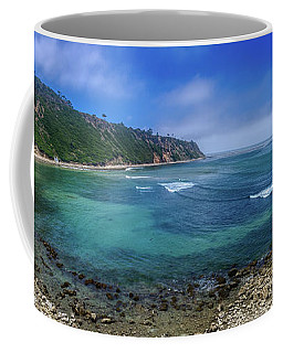 Marine Layer Over Bluff Cove Panorama Coffee Mug