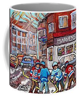 Marven's Greek Restaurant Park Ex Paintings Montreal Winterscenes Hockey Art C Spandau Streetscenes Coffee Mug
