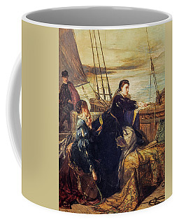 Mary, Queen Of Scots - The Farewell To France, 1867  Coffee Mug