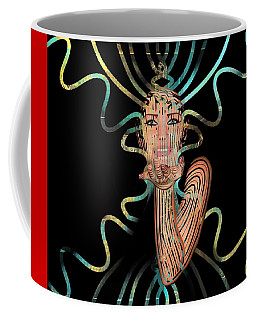 Coffee Mug featuring the mixed media Mask I Cast My Spell You Are Mine by Joan Stratton
