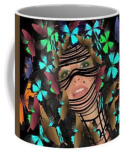 Mask Of Butterflies And Bondage Coffee Mug