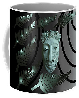 Coffee Mug featuring the ceramic art Mask The Maori Warrior by Joan Stratton